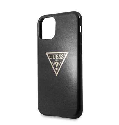 GUHCN58SGTLBK Guess Solid Glitter Zadní Kryt pro iPhone 11 Pro Black (EU Blister)