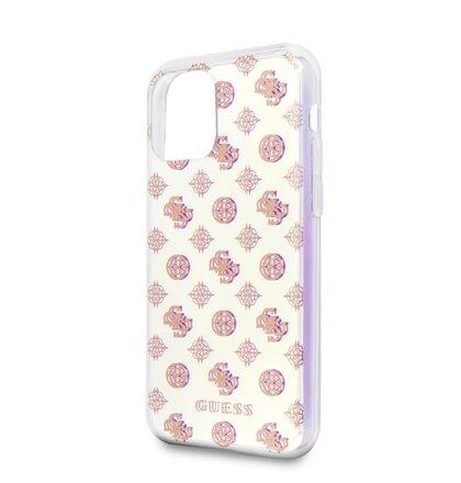 GUHCN61PEOML Guess Iridescent 4G Peony Zadní Kryt pro iPhone 11 (EU Blister)