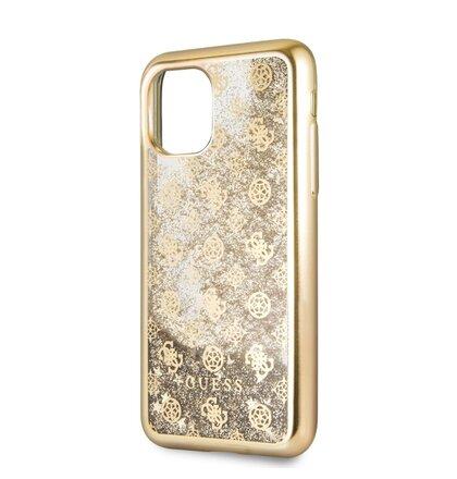 GUHCN58PEOLGG Guess 4G Peony Glitter Zadní Kryt pro iPhone 11 Pro Gold (EU Blister)