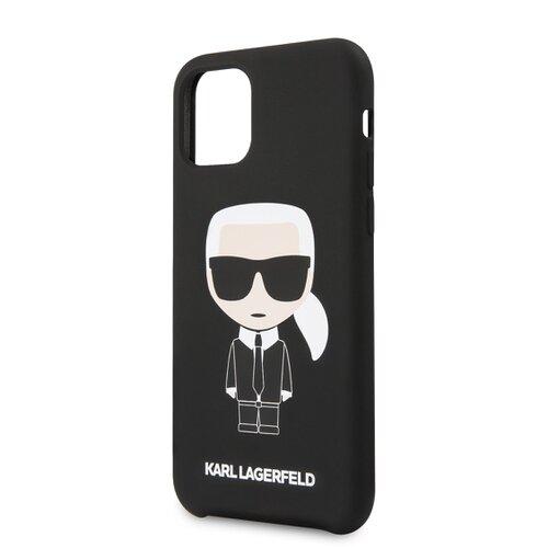 Puzdro Karl Lagerfeld pre iPhone 11 KLHCN61SLFKBK silikónové, čierne