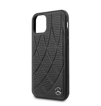 MEHCN61DIQBK Mercedes Perforated Leather Zadní Kryt pro iPhone 11 Black
