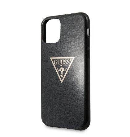 GUHCN65SGTLBK Guess Solid Glitter Zadní Kryt pro iPhone 11 Pro Max Black (EU Blister)