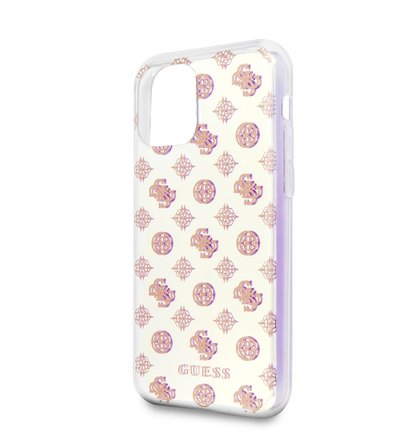 GUHCN65PEOML Guess Iridescent 4G Peony Zadní Kryt pro iPhone 11 Pro Max (EU Blister)