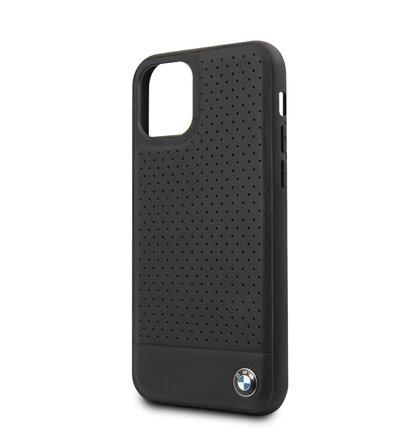 BMHCN61PEBOBK BMW Kožený Kryt pro iPhone 11 Black