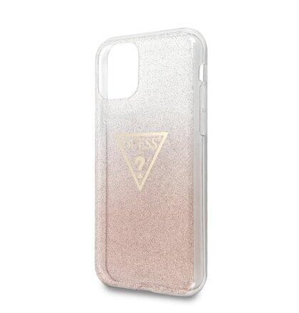 GUHCN61SGTLPI Guess Solid Glitter Zadní Kryt pro iPhone 11 Pink (EU Blister)