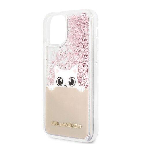 Puzdro Karl Lagerfeld pre iPhone 11 KLHCN61PABGNU silikónové, ružové