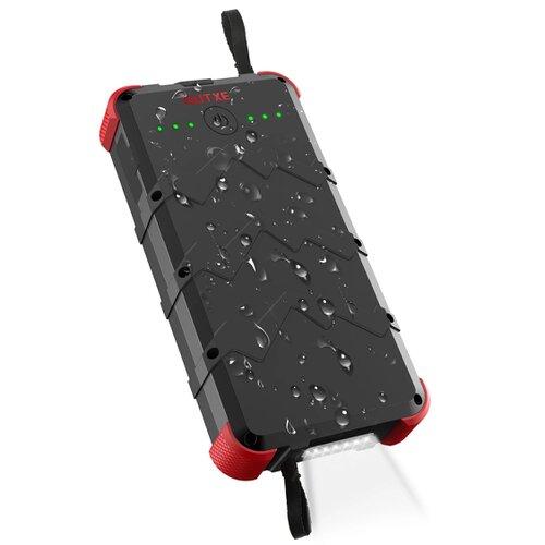 Vodeodolný Power Bank s bezdrôtovým solárnym nabíjaním OUTXE Rugged IP67 20000mAh Čierno-červený