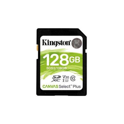 SDXC karta KINGSTON 128GB Canvas Select Plus SD Class 10 UHS-I (r100MB/s, w85MB/s)