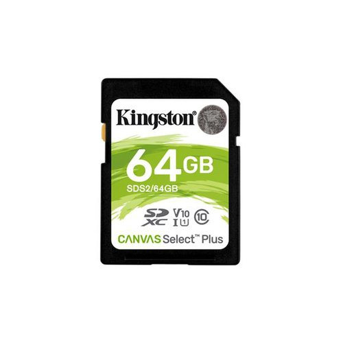 KINGSTON SDXC karta 64GB Canvas Select Plus SD Class 10 UHS-I (r100MB/s, w100MB/s)