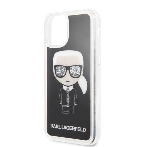 Puzdro Karl Lagerfeld pre iPhone 11 KLHCN61ICGBK silikónové, čierne