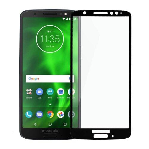 Ochranné sklo Q 9H Moto G6 celotvárové - čierne