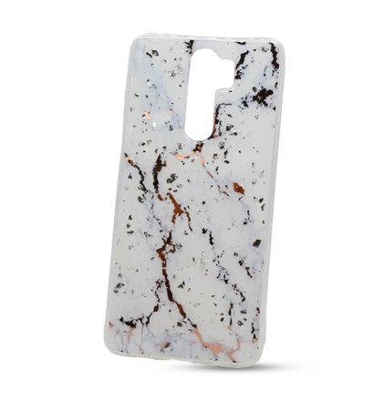 Puzdro Vennus Marble TPU Xiaomi Redmi Note 8 Pro vzor 1 - biele