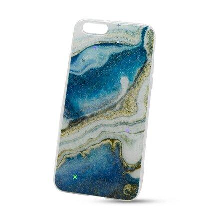 Puzdro Vennus Marble TPU iPhone 6/6S vzor 6 - modro-biele