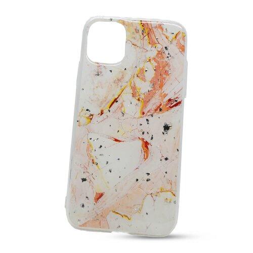 Puzdro Vennus Marble TPU iPhone 11 vzor 9 - bielo-ružová