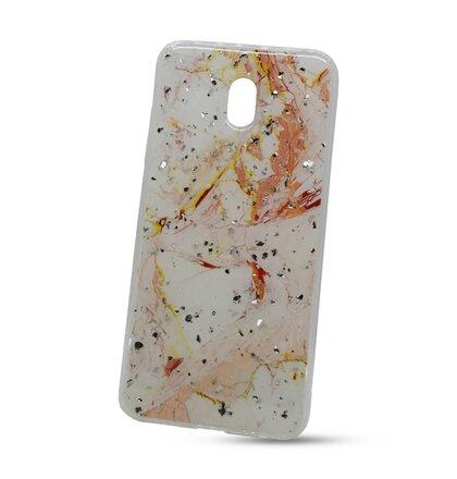 Puzdro Vennus Marble TPU Xiaomi Redmi 8A vzor 9 - bielo-ružové