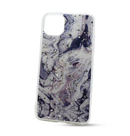 Puzdro Vennus Marble TPU iPhone 11 Pro Max vzor 2 - bielo-čierne