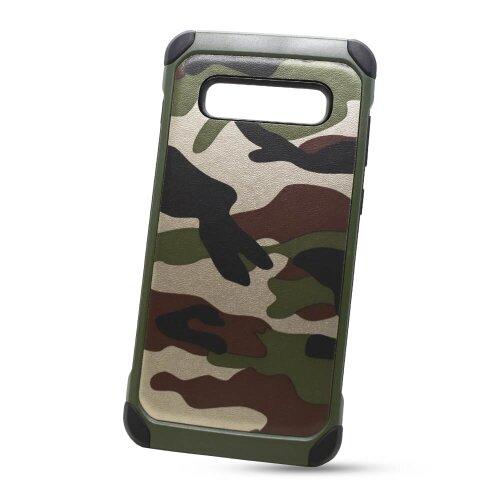 Puzdro Camouflage Army TPU Hard Samsung Galaxy S10+ G975 - zelené