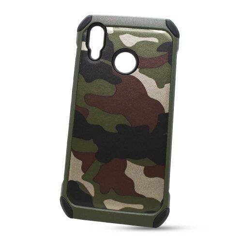 Puzdro Camouflage Army TPU Hard Huawei P20 Lite - zelené
