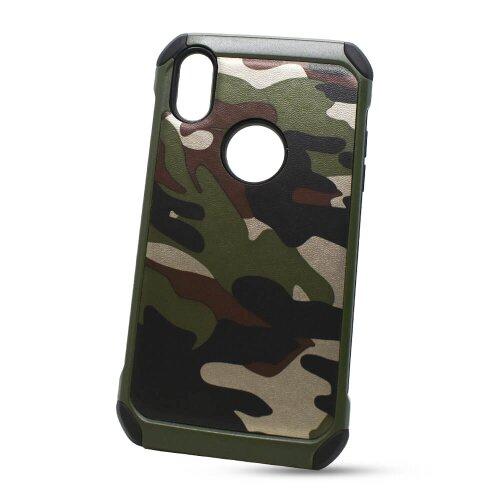 Puzdro Camouflage Army TPU Hard iPhone XR - zelené