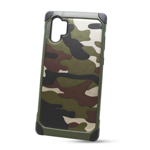 Puzdro Camouflage Army TPU Hard Samsung Galaxy Note 10+ N975 - zelené