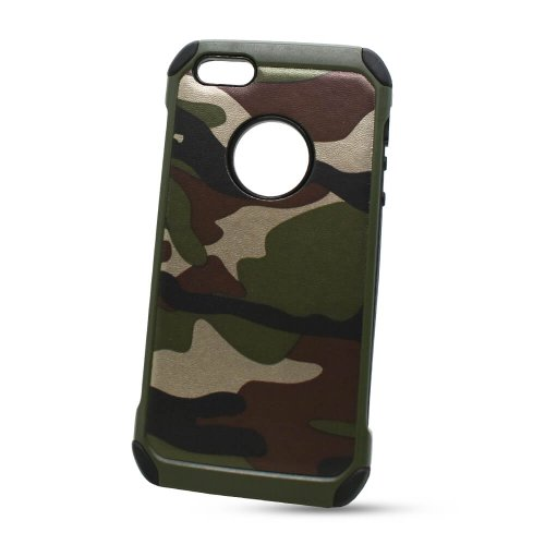 Puzdro Camouflage Army TPU Hard iPhone 5/5S/SE - zelené