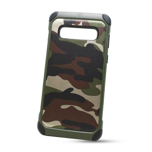 Puzdro Camouflage Army TPU Hard Samsung Galaxy S10 G973 - zelené