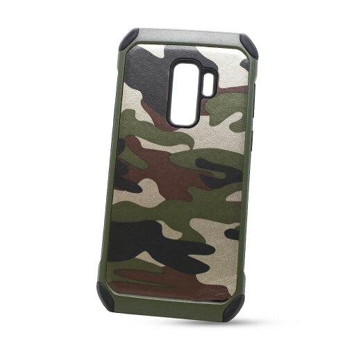 Puzdro Camouflage Army TPU Hard Samsung Galaxy S9+ G965 - zelené