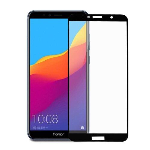 Ochranné sklo 6D Glass 9H Huawei Y6 Prime 2018/Y6 2018/Honor 7A celotvárové (full glue) - čierne (testované)