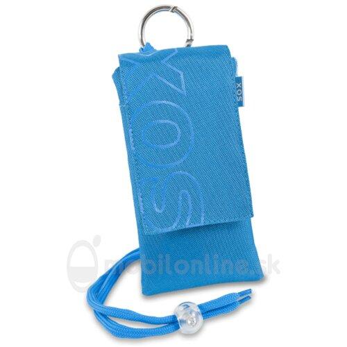 Puzdro Uni SOX Color Blocks 14,0 x 7,3 x 1,0cm - modré (Samsung Galaxy S4 a podobne)