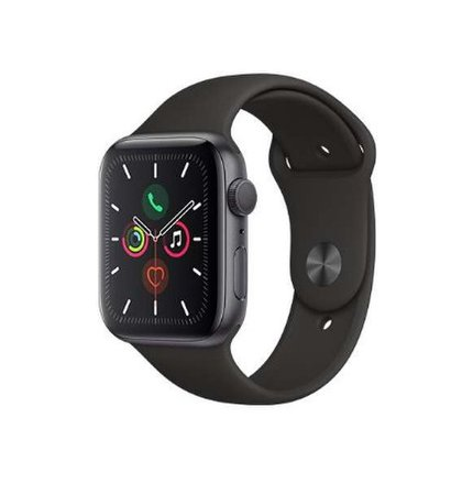 Apple Watch Series 5 GPS 44 mm Space Gray Aluminium Case with Black sport band