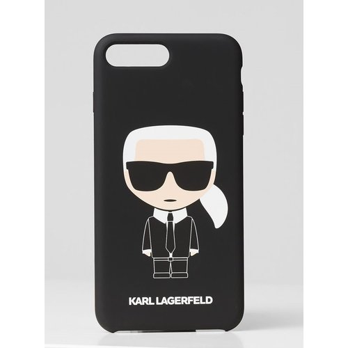 Puzdro Karl Lagerfeld pre iPhone 7 Plus/8 Plus KLHCI8LSLFKBK silikónové, čierne