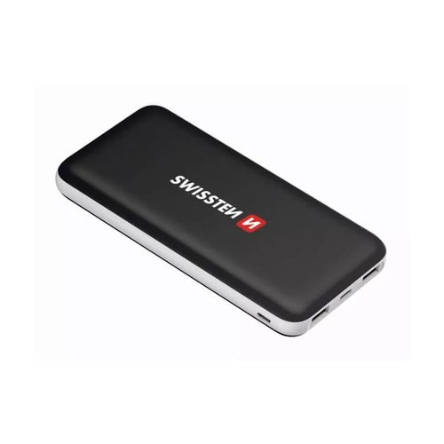 Power Bank Swissten Black Core Slim 15000mAh USB-C Čierny