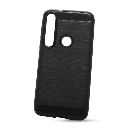 Puzdro Carbon Lux TPU Motorola Moto G8 Plus - čierne