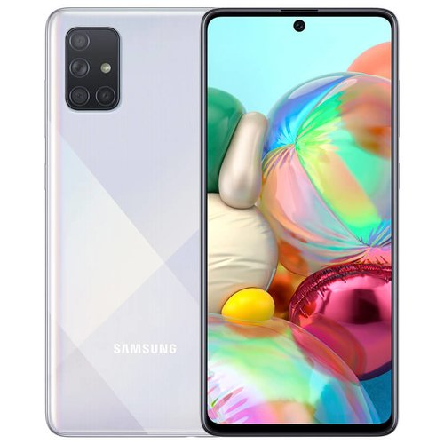 Samsung Galaxy A71 6GB/128GB A715 Dual SIM, Strieborná - SK distribúcia