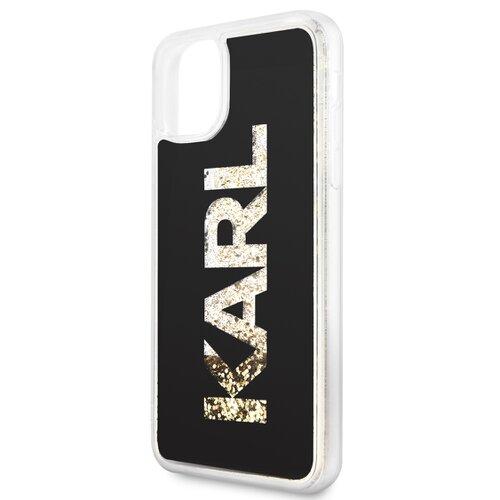 Puzdro Karl Lagerfeld pre iPhone 11 Pro KLHCN58KAGBK silikónové, čierne