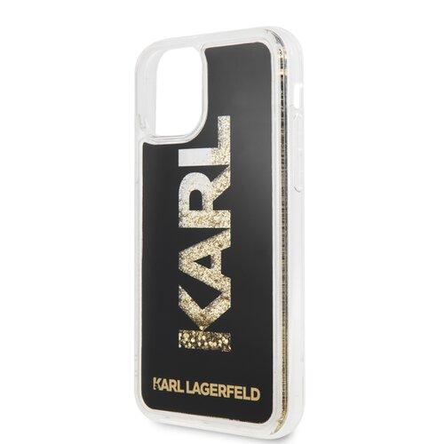 Puzdro Karl Lagerfeld pre iPhone 11 KLHCN61KAGBK silikónové, čierne