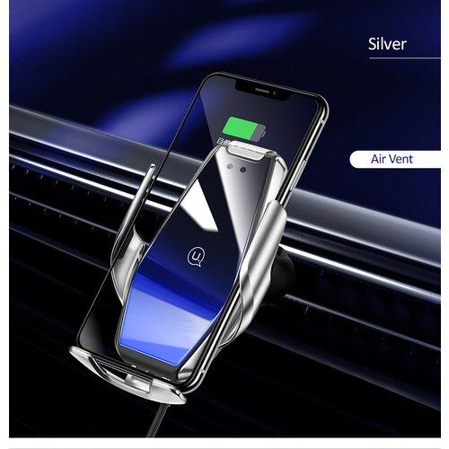 Držiak do auta s bezdrôtovým nabíjaním USAMS CD126 Infrared 15W Air Vent Silver