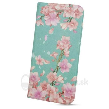 Puzdro GVIEW Creative Book iPhone 6 Plus/6S Plus - kvety ružovo-modré