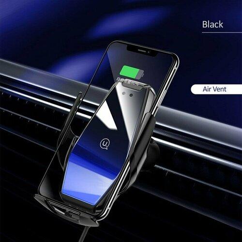 Držiak do auta s bezdrôtovým nabíjaním USAMS CD126 Infrared 15W Air Vent Black (EU Blister)