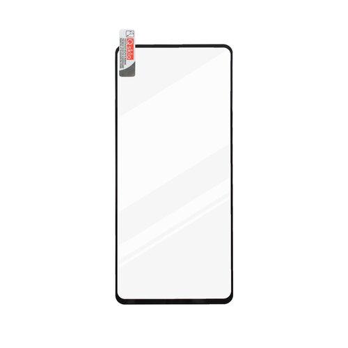 Tvrdené sklo Q sklo Samsung Galaxy A71 A715/Xiaomi Note 9 Pro celotvárové - čierne (full glue)