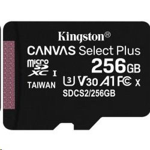 256GB microSDXC Kingston Canvas Select Plus A1 CL10 100MB/s bez adapteru