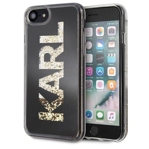 Puzdro Karl Lagerfeld pre iPhone 7/8 KLHCI8KAGBK silikónové, čierne