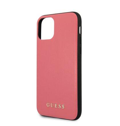 GUHCN65PUMPI Guess PU Leather Zadní Kryt pro iPhone 11 Pro Max Pink (EU Blister)