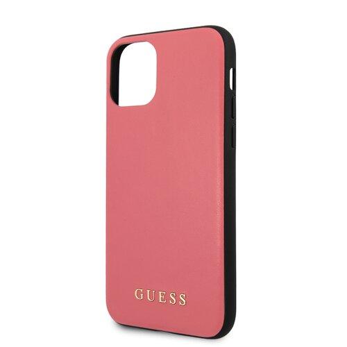 Puzdro Guess pre iPhone 11 Pro Max GUHCN65PUMPI kožené, ružové