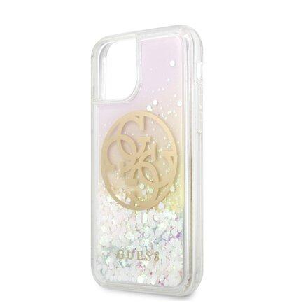 GUHCN58LGIRGP Guess Glitter Circle Zadní Kryt pro iPhone 11 Pro (EU Blister)