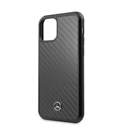 MEHCN65RCABK Mercedes Dynamic Real Carbon Zadní Kryt pro iPhone 11 Pro Max Black