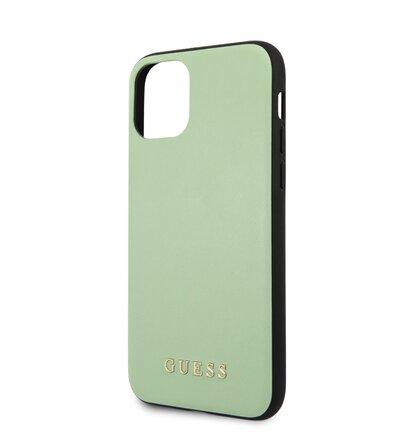 GUHCN65PUMGR Guess PU Leather Zadní Kryt pro iPhone 11 Pro Max Green (EU Blister)