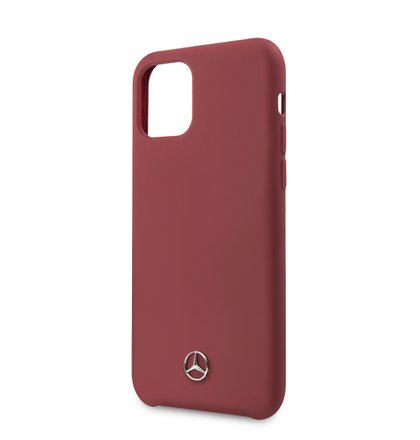 MEHCN58SILRE Mercedes Liquid Silikonový Kryt pro iPhone 11 Pro Red