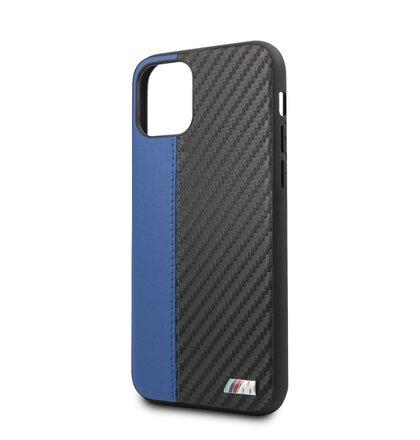 BMHCN61MCARBL BMW Carbon Stripe Hard Case Blue pro iPhone 11