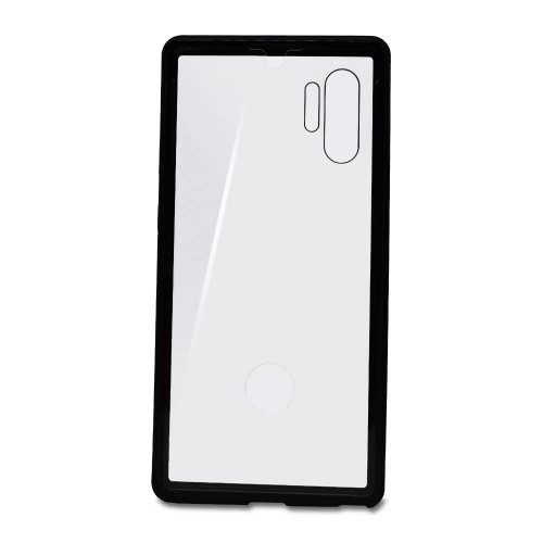 Puzdro Magnet Metal Glass 360 Samsung Galaxy Note 10+ N975 celotelové - čierne